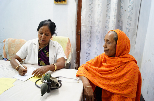 Lipi visits a doctor in Bangladesh.