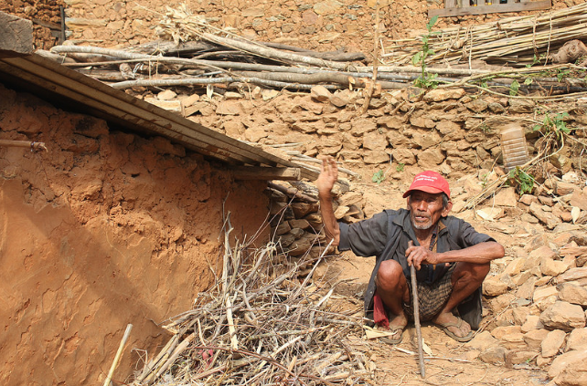 Dupha Lama's house collapse during the Nepal Earthquake.