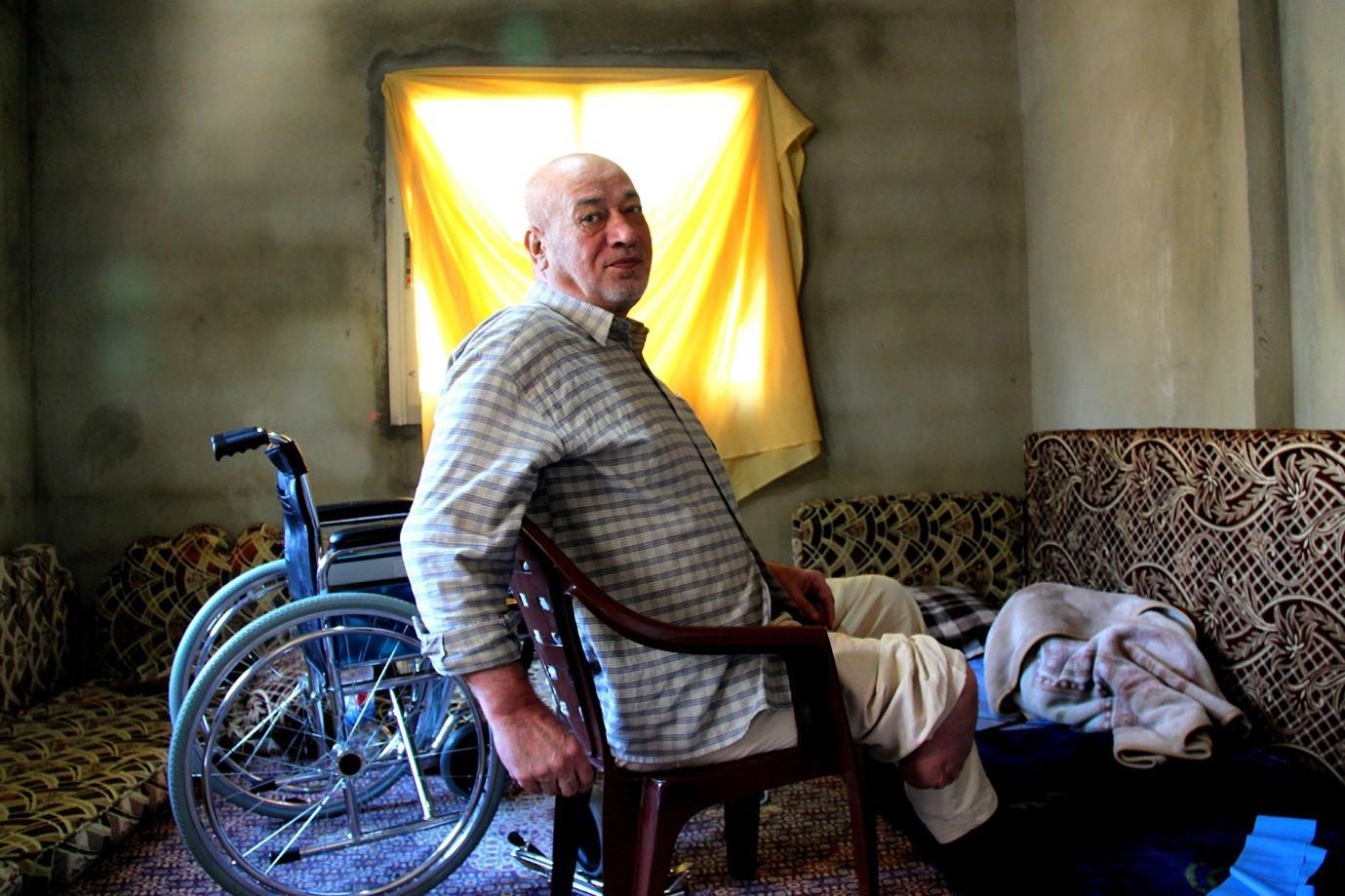 Old Syrian refugee in Lebanon.