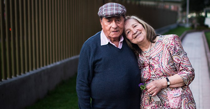 Older couple in Colombia.