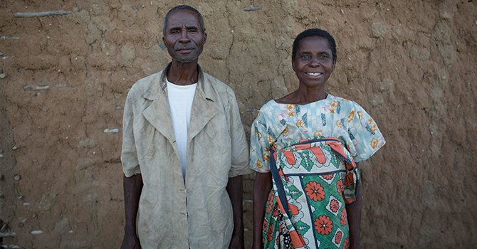 A man and woman stand side by side in Tanzania (c) Jeff Williams