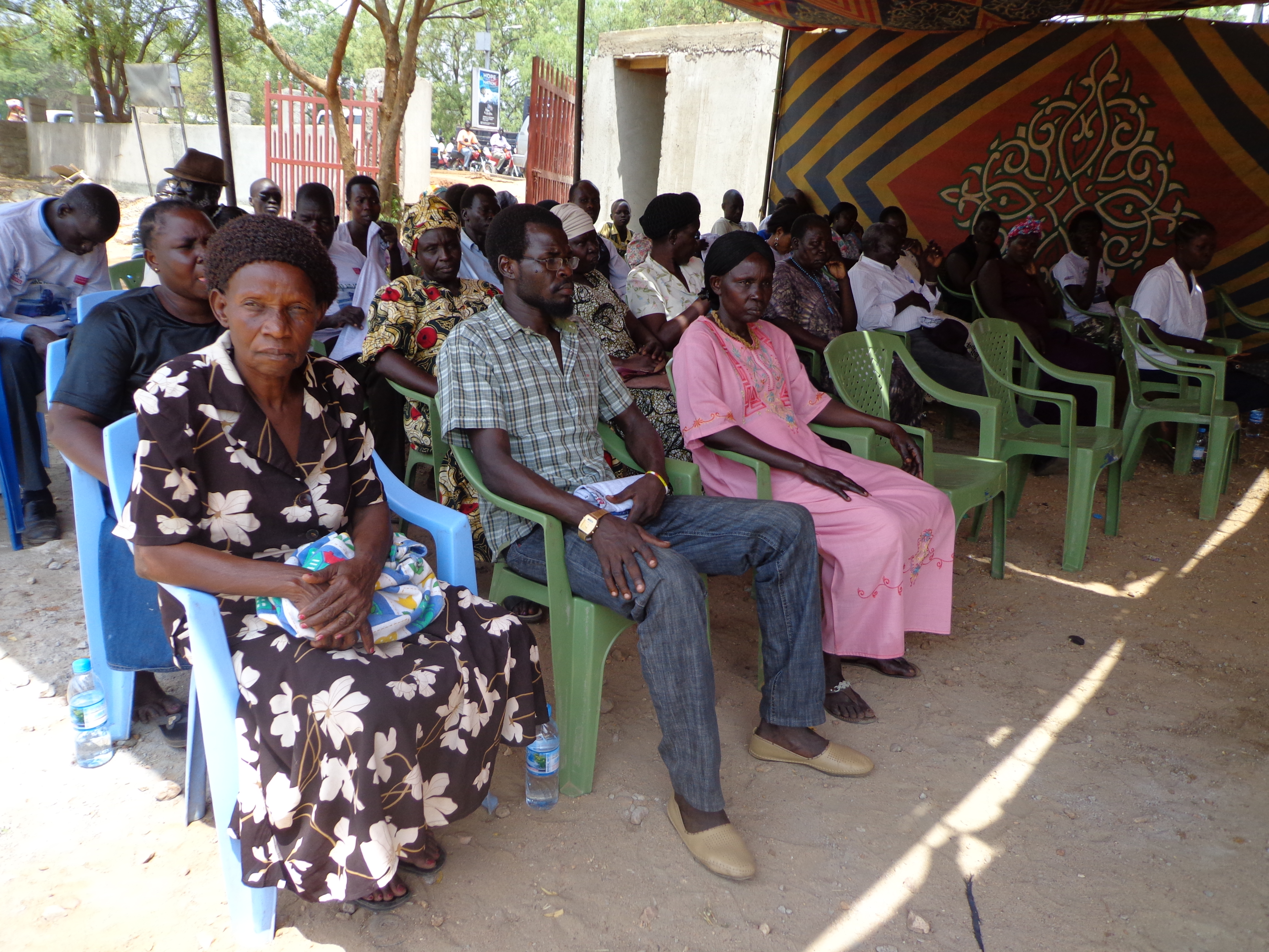 A group gather for Unjust Day in South Sudan.