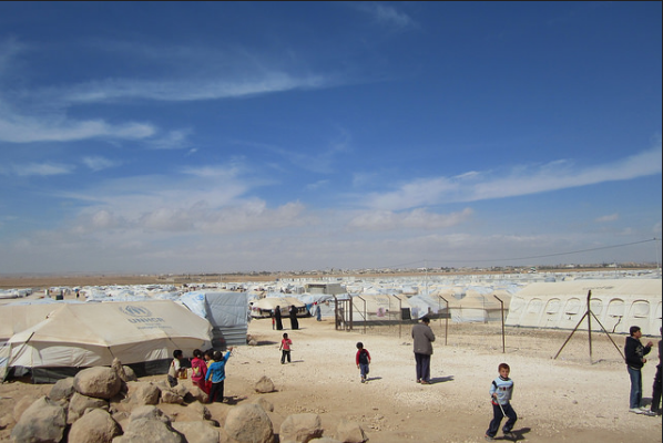 Za'tari refugee camp in Jordon.