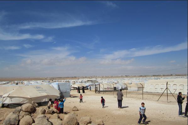 Za'tari refugee camp in Jordon.