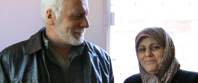Moustafa and his wife in Syria.