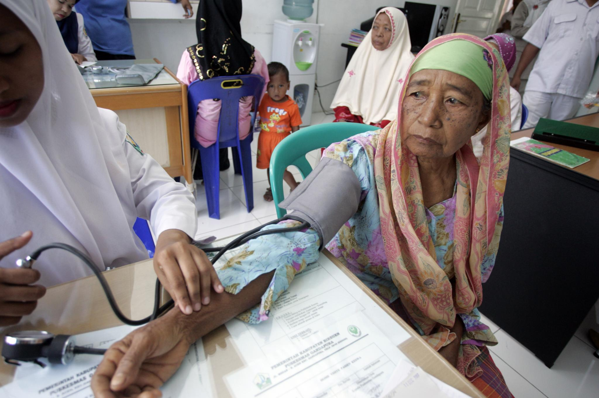 Healthcare clinic in Indonesia.