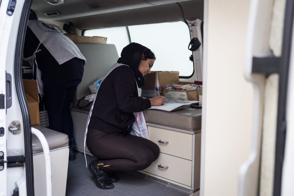 Nurse in one of our mobile medical units, Lebanon