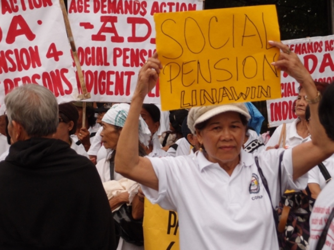 Older people March for social protection in the Philippines