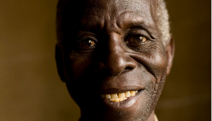 Barton, 76, a bricklayer in Uganda