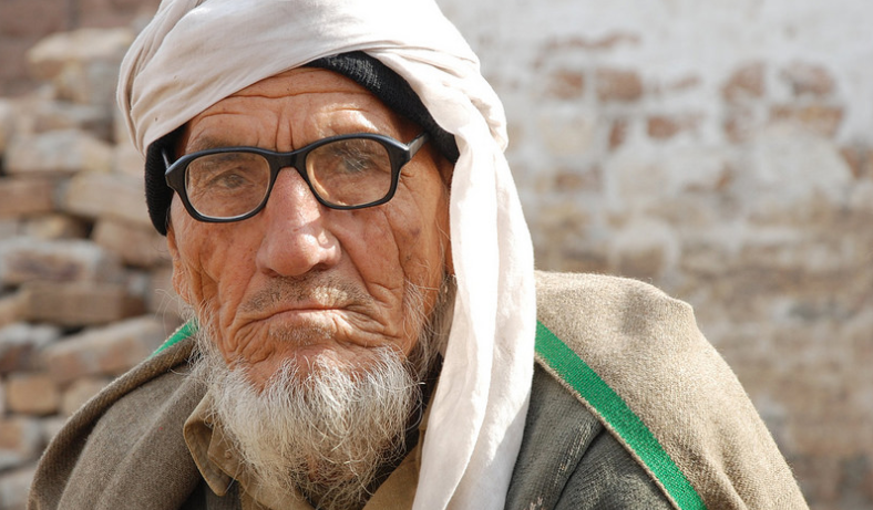 An older man in Pakistan