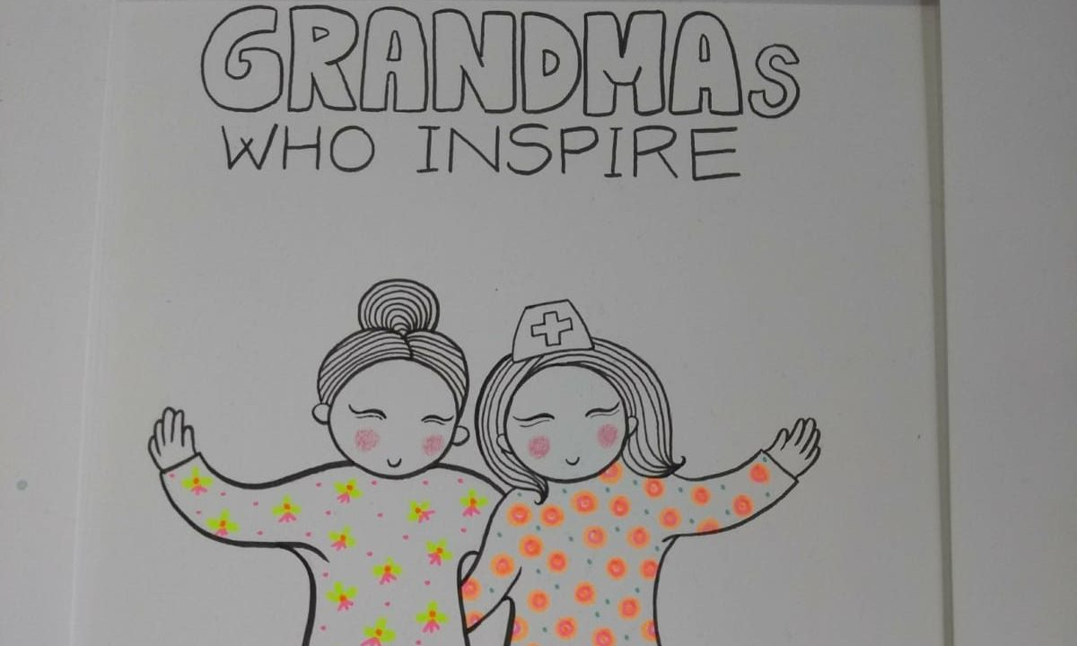 Drawing of grandmothers
